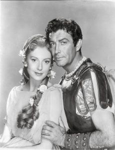 Deborah Kerr and Robert Taylor as the main characters in Quo Vadis
