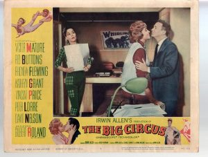 "Rhonda Fleming and Red Buttons in ""The Big Circus"""