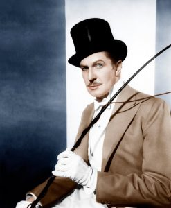 Vincent Price as the ringmaster in The Big Circus