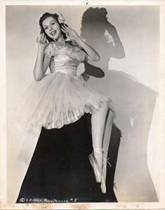 Ann Miller in a dress - publicity photo