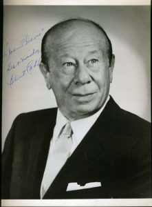 Autographed photo of Bert Lahr
