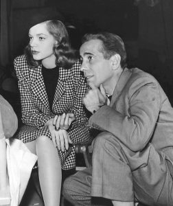Lauren Bacall and Humphrey Bogart on the set of The Big Sleep