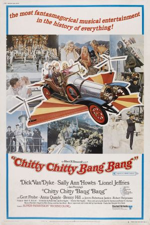 Chitty Chitty Bang Bang, starring Dick Van Dyke, Sally Ann Howes, Lionel Jeffries, Benny Hill