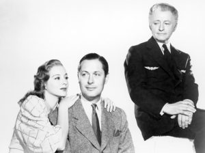Evelyn Keyes as the love interest, Robert Montgomery as the not-so-dead boxer Joe, and Claude Rains as Mr. Jordan