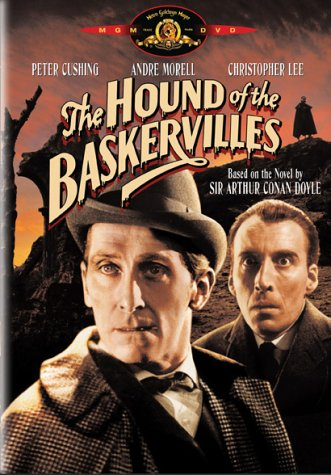 The Hound of the Baskervilles, starring Peter Cushing, Andre Morell, Christopher Lee