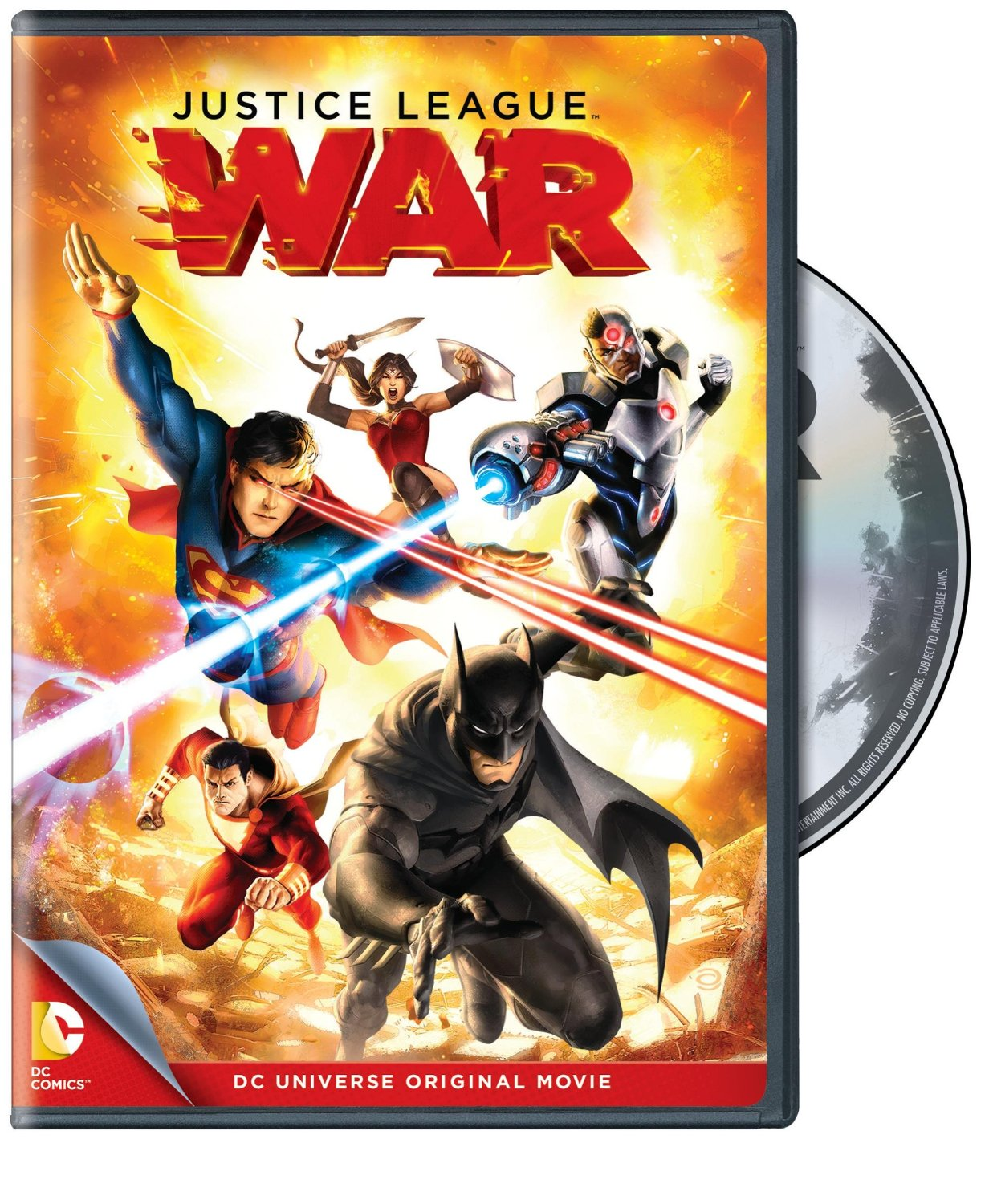 Justice League: War - a revamped origin for the Justice League, starring Superman, Batman, Wonder Woman, Captain Marvel (Shazam), the Flash, Green Lantern and Cyborg