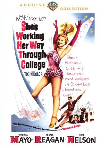 She's Working Her Way Through College (1952) starring Virginia Mayo, Ronald Reagan