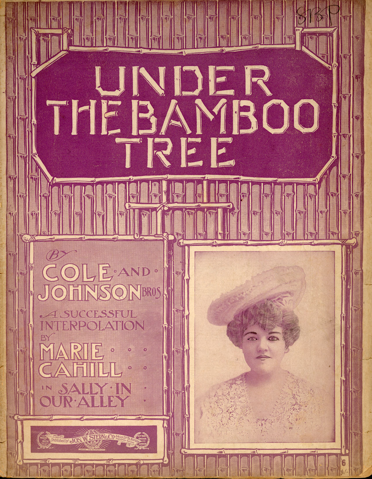 "Under the Bamboo Tree lyrics, words and music by Robert Cole and The Johnson Bros., 1902 performed by Margaret O'Brien (""Tootie"") and Judy Garland (""Esther"") in Meet Me in St. Louis"