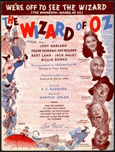 Sheet music to We're Off to See the Wizard - Judy Garland, Ray Bolger, Bert Lahr