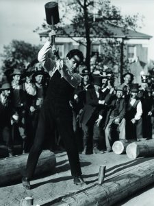 Young Mr. Lincoln - Henry Fonda as a young Abe Lincoln splitting logs