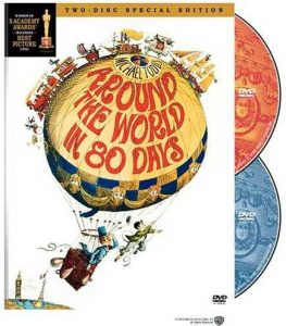 Around the World in 80 Days 1956 film - starring David Niven, Cantiflas, Shirley MacLaine