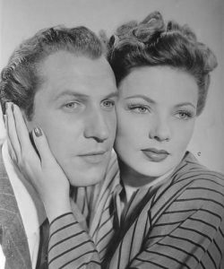 Vincent Price and Gene Tierney in Laura