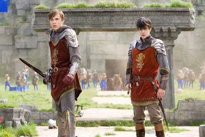 Peter and Edward Pevensie in their armor