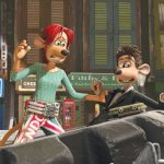 Rita (Kate Winslet) and Roddy (Hugh Jackman) in Flushed Away