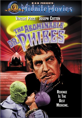 The Abominable Dr. Phibes (1971) starring Vincent Price, Joseph Cotten, Peter Jeffrey