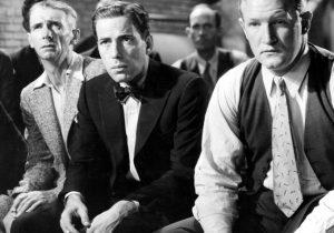 Humphrey Bogart at a Klan-like meeting in Black Legion