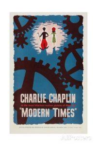Modern Times, starring Charlie Chaplin and Paulette Goddard
