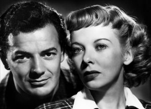 Cornel Wilde and Ida Lupino in Road House (1948)