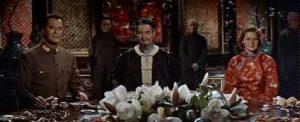 Curt Jurgens, Robert Donat, and Ingrid Bergman in The Inn of the Sixth Happiness