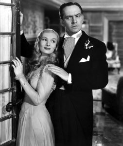 Veronica Lake and Frederic March in I Married a Witch