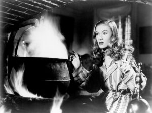 Veronica Lake talking to her ghostly father in I Married a Witch