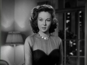 Susan Hayward as Irene Bennett, the client that Max falls in love with -- while he's engaged to Maria