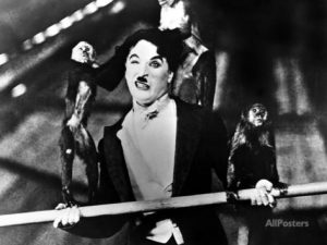 The Circus - The Chaplin Collection - Charlie Chaplin on the high wire, surrounded by monkeys