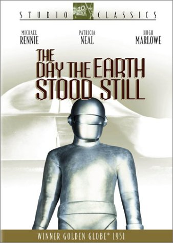 The Day the Earth Stood Still, starring Michael Rennie, Patricia Neal, Hugh Marlowe - DVD