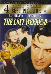 The Lost Weekend (1945) starring Ray Milland, Jane Wyman, Howard Da Silva