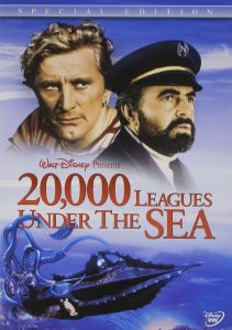 20,000 Leagues Under the Sea, starring James Mason, Kirk Douglas, Paul Lukas, Peter Lorre