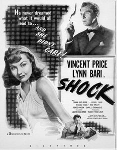 Shock, starring Vincent Price, Lynn Bari, Anabel Shaw, Frank Latimer