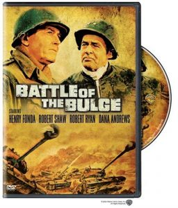 Battle of the Bulge, starring Henry Fonda, Robert Ryan, Dana Andrews, Robert Shaw, James MacArthur, Telly Savalas