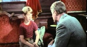 Billy Mumy and Jimmy Stewart have a father and son conversation in Dear Brigitte