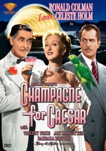 Champagne for Caesar, starring Ronald Colman, Barbara Britton, Art Linkletter, Vincent Price, Celeste Holm