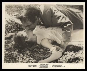Count Yorga's henchman, Brudah,, with a victim in Count Yorga, Vampire