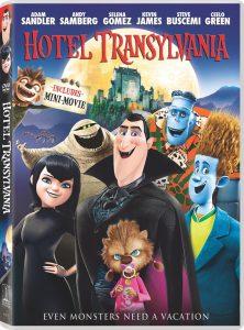 Hotel Transylvania (2012) starring Adam Sandler, Selina Gomez, Andy Samberg, Kevin James