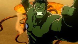 Hulk smash! in the arena of the Red King on the planet Sakaar in Planet Hulk