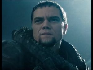 Zod, portrayed by Michael Shannon - a great hero needs a great villain, and Zod provides a great villain, thanks to an intense performance by Michael Shannon