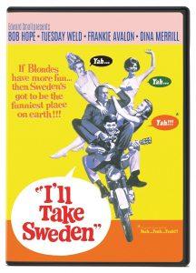 I'll Take Sweden, starring Bob Hope, Tuesday Weld, Frankie Avalon, Dina Merrill