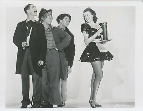 Review of Room Service, one of the Marx Brothers' latter films, starring Groucho Marx, Chico Marx, Harpo Marx, Lucille Ball, Ann Miller