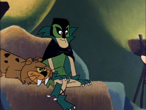 The villainous Green Goose, voiced with gusto by Harvey Korman