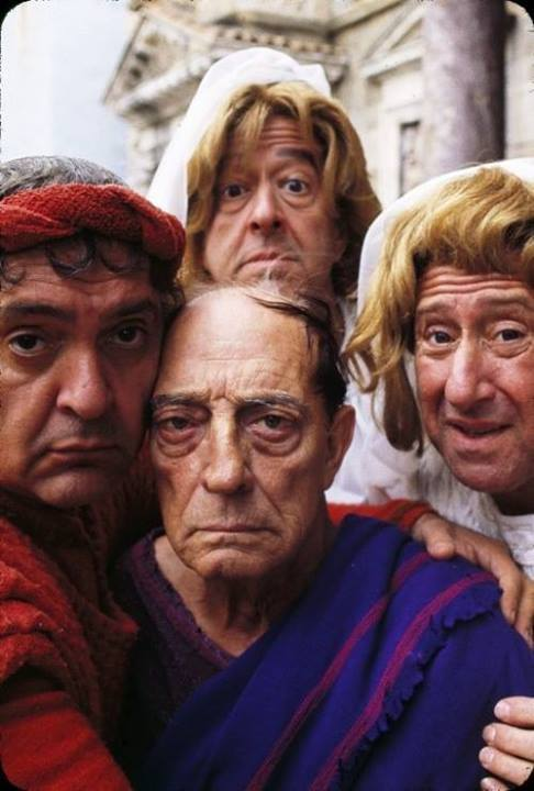 A Funny Thing Happened on the Way to the Forum, starring Zero Mostel, Phil Silvers, Buster Keaton