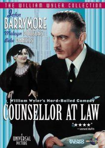 Counsellor at Law starring John Barrymore, Doris Kenyon, Melvyn Douglas, Bebe Daniels
