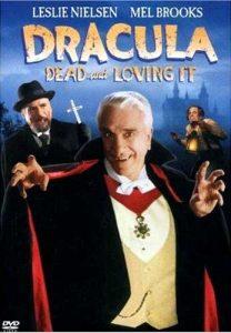 Dracula Dead and Loving It(1995) starring Leslie Nielsen, Steven Weber, Peter MacNicol, Lysette Anthony, Mel Brooks