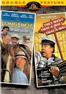 The Longshot (1986), starring Tim Conway, Harvey Korman, Jack Weston, Jonathon Winters
