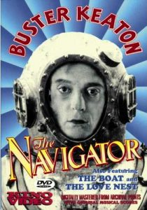 Buster Keaton in a deep sea diving suit in The Navigator