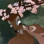 Bambi being kissed