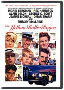 The Yellow Rolls-Royce, starring Ingrid Bergman, Rex Harrison, George C. Scott, Shirley MacLaine, Alain Delon, Art Carney, Omar Sharif