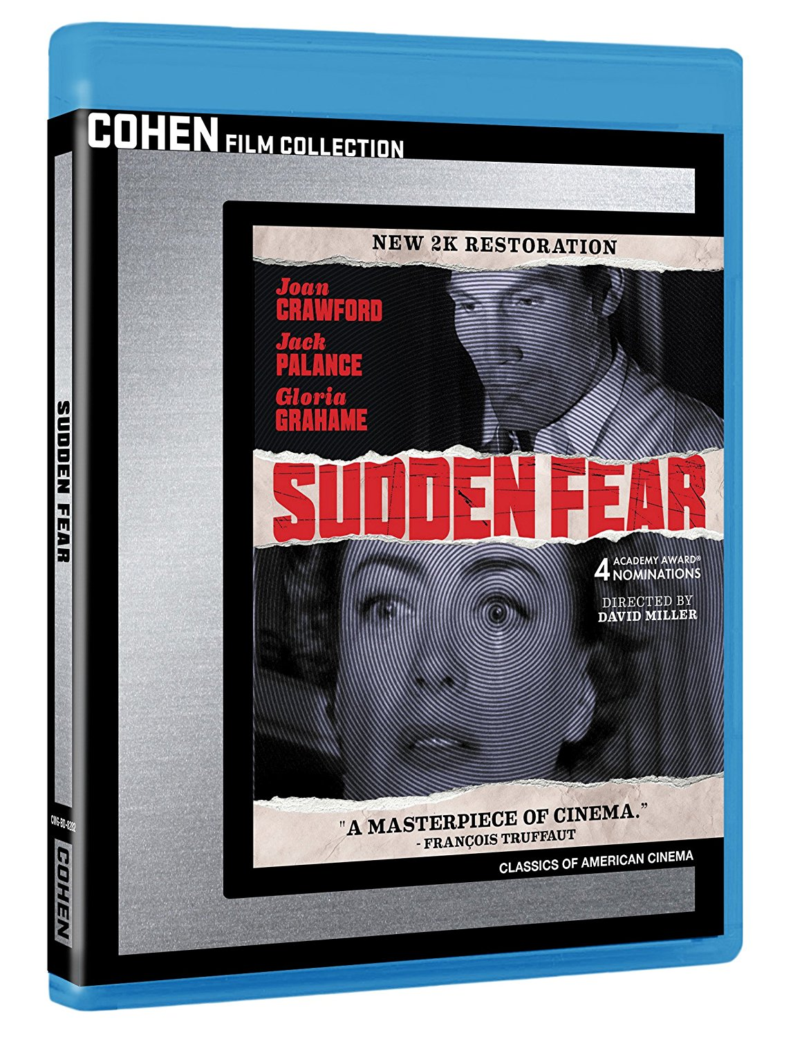 Sudden Fear, starring Joan Crawford, Jack Palance, Gloria Grahame