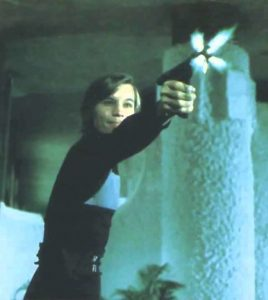 In Logan's Run, Michael York fires his Sandman weapon